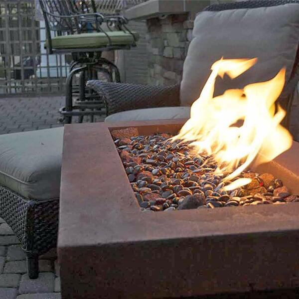 Urban Series Fiery Rust Fire Pit - Rectangle