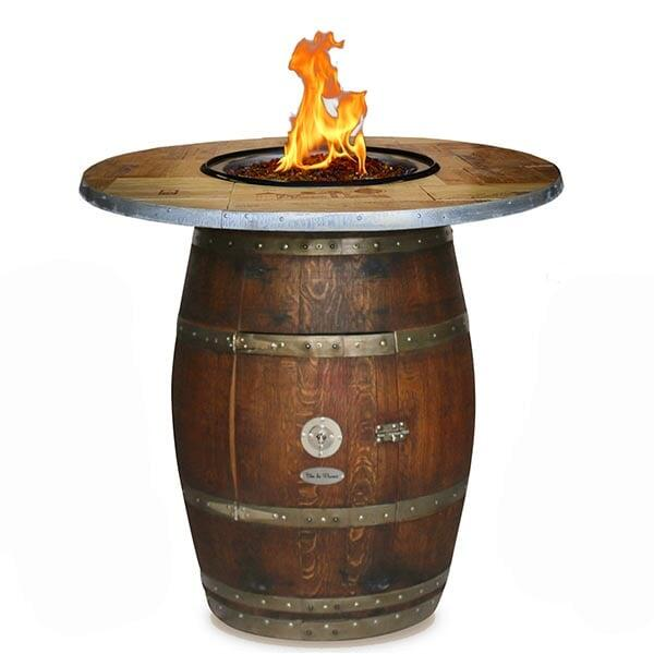 The Grand Wine Barrel Fire Pit Table by Vin de Flame