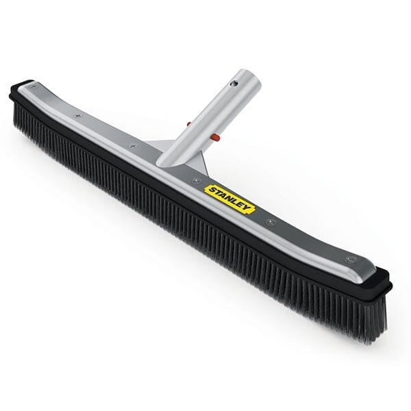 "Stanley 18"" DLX Aluminum-Back Pool Brush"