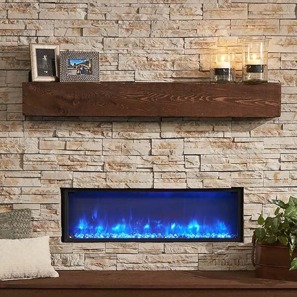 "60"" Supercast Wood Beam Mantel"