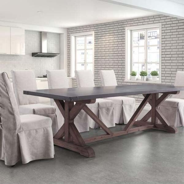 Durham Dining Table Zuo Modern