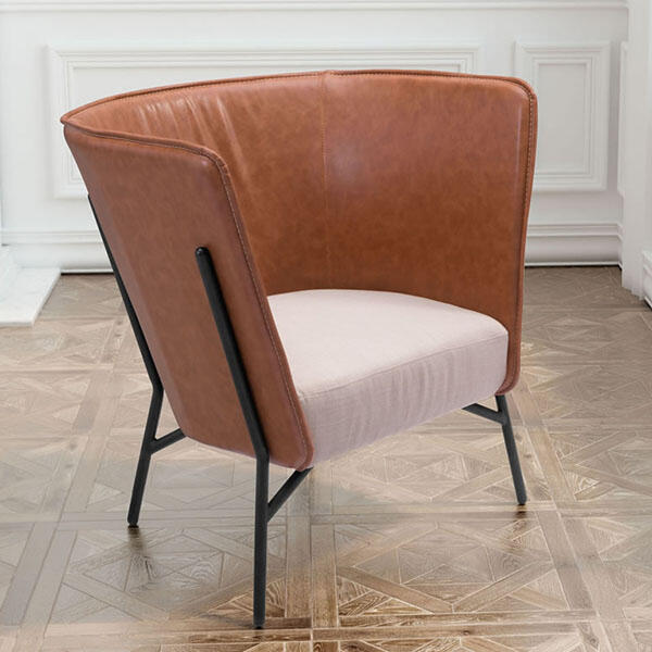Assange Occasional Chair Coffee & Beige