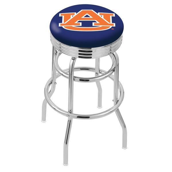 Auburn Counter Height Bar Stool W Official College Logo
