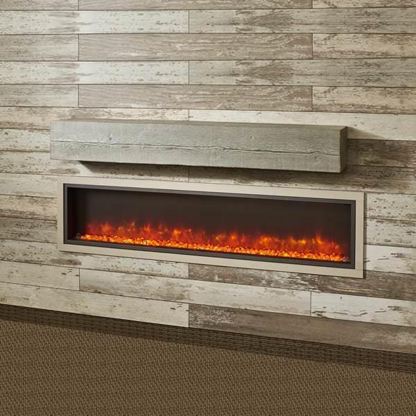 60 supercast wood beam mantel. Black Bedroom Furniture Sets. Home Design Ideas