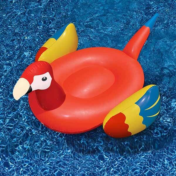 Tropical Parrot Inflatable Pool Lounge
