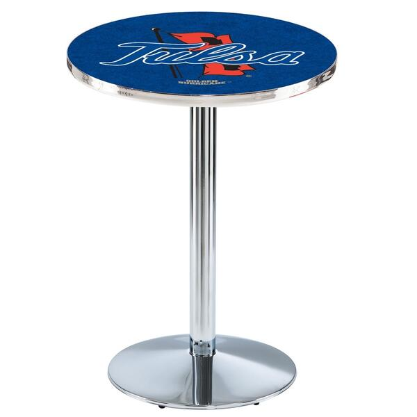 "American Freight Furniture Tulsa: 36"" Chrome W/ Official College Logo"