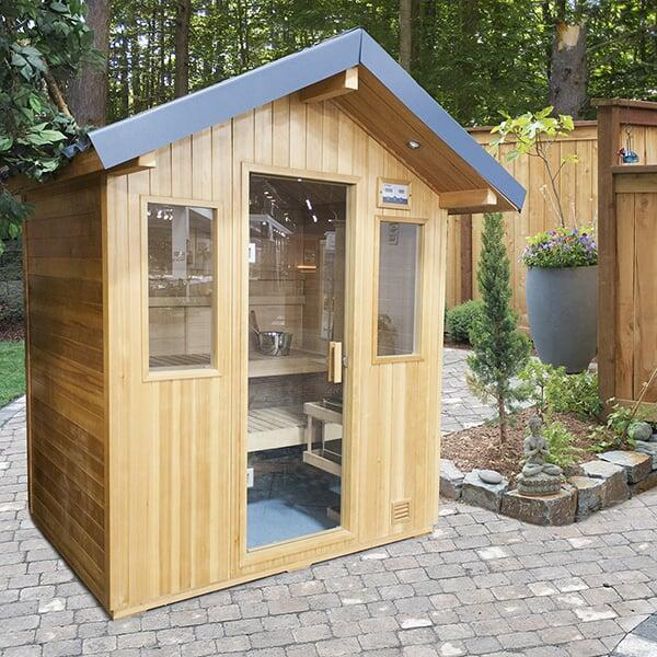 4 Person Outdoor Sauna by Saunatec