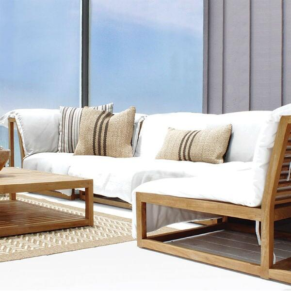 teak outdoor secitonal