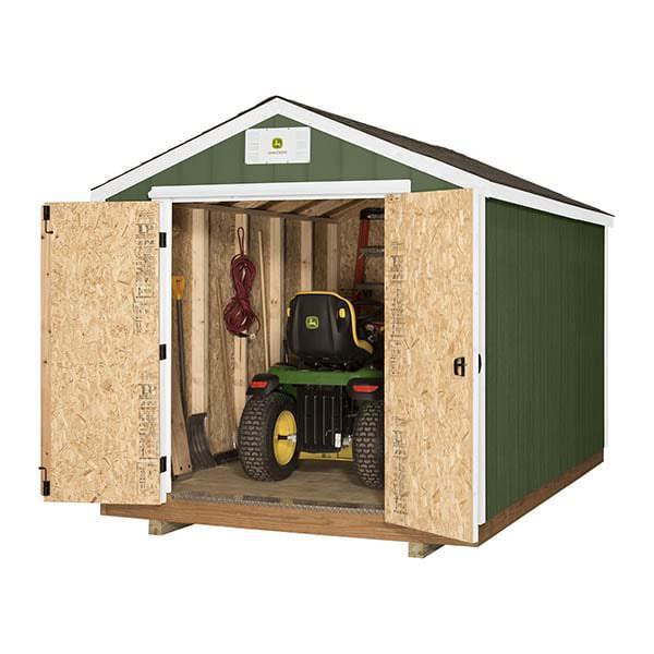 John Deere Diy Ready Shed 8x12 W Peak Roof By Backyard