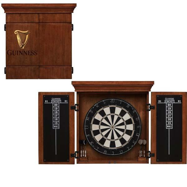 Guinness Dart Board With Cabinet Set By American Heritage