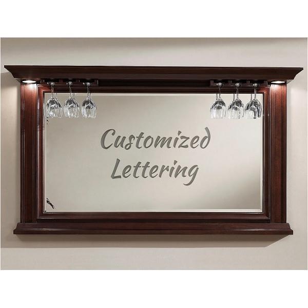 Bar Mirror - Custom Lettering