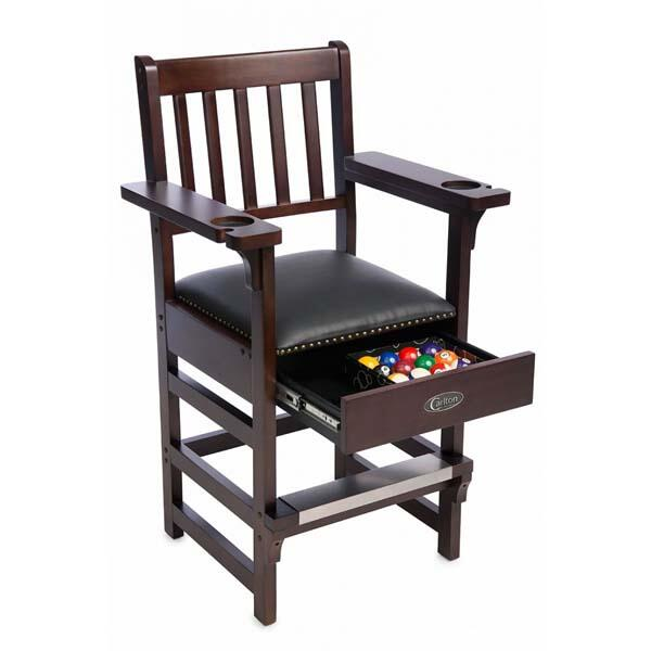 Billiard Spectator Chair w/ Drawer by Carlton Billiards Espresso