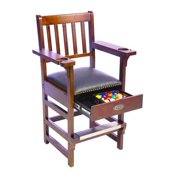 Billiard Spectator Chair w/ Drawer by Carlton Billiards Java