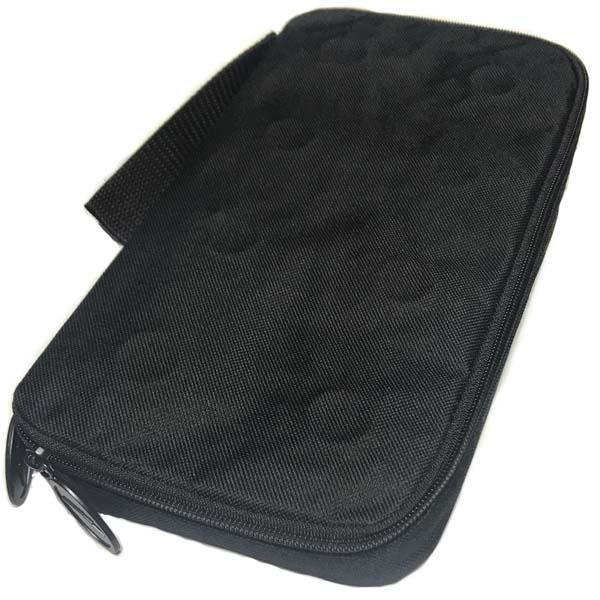 Pucks in a case