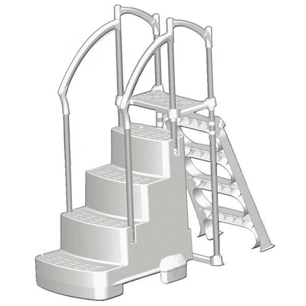 Fiesta Step With Outside Ladder w/ Lock by InnovaPlas