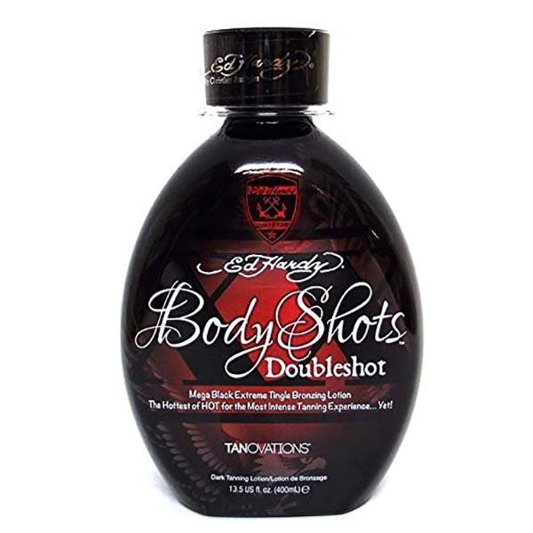 Body Shots Double Shot Tanning Lotion 13.5 oz by Ed Hardy
