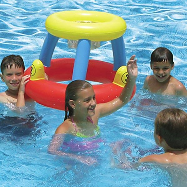 Water Basketball and Ring Toss Game