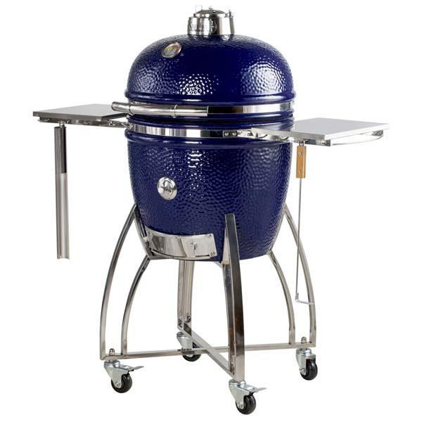 "Large 19"" Platinum Kamodo Smoker Grill Cart"