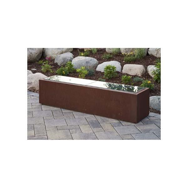 Cortlin Gas Fire Table with glass cover