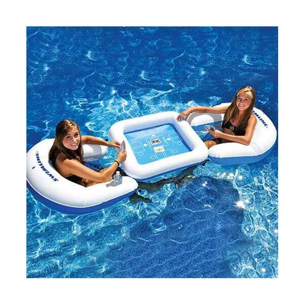 Inflatable Game Station Set with Waterproof Cards by Swimline