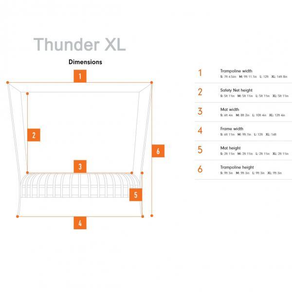 Vuly 14' Thunder XL Trampoline Net