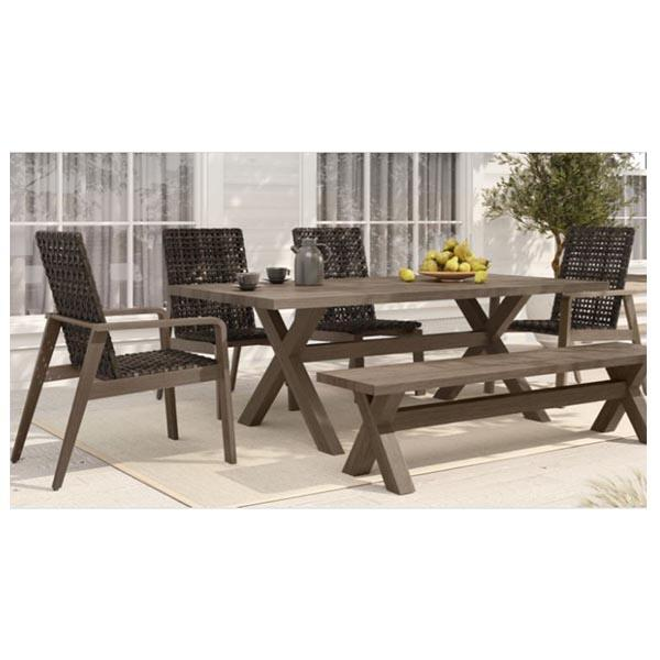 Antibes Dining Collection with bench