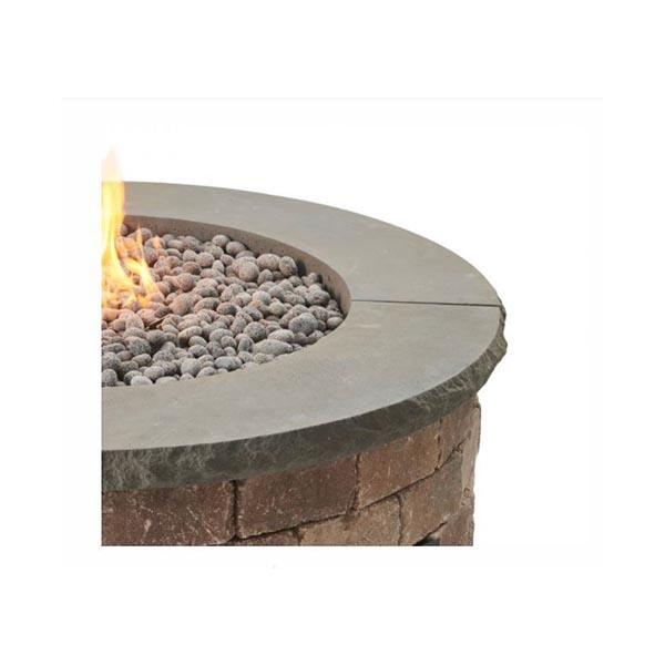 Bronson Round Hardscape Firepit Kit Charcoal Grey