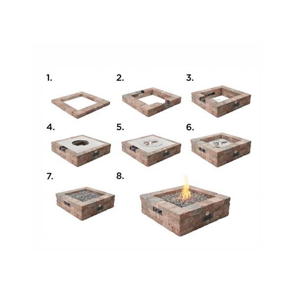 Bronson Square Hardscape Firepit Kit