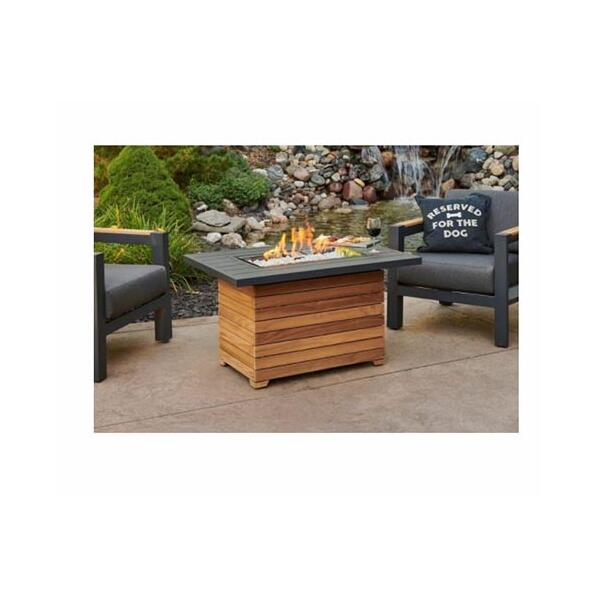 Darien Aluminum Gas Fire Pit Table by The Outdoor GreatRoom