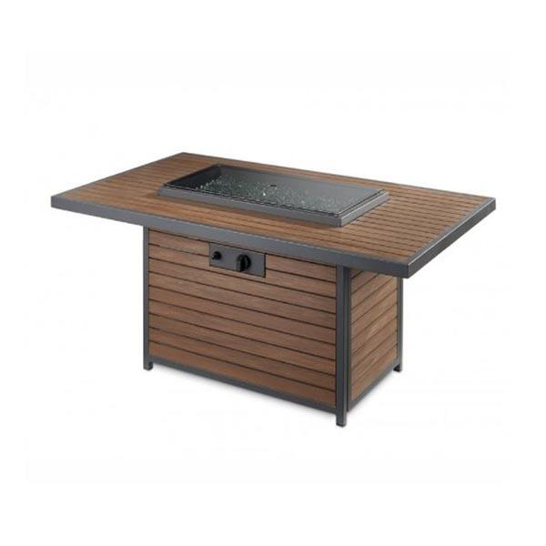 Kenwood Rectangular Chat Fire Table with cover