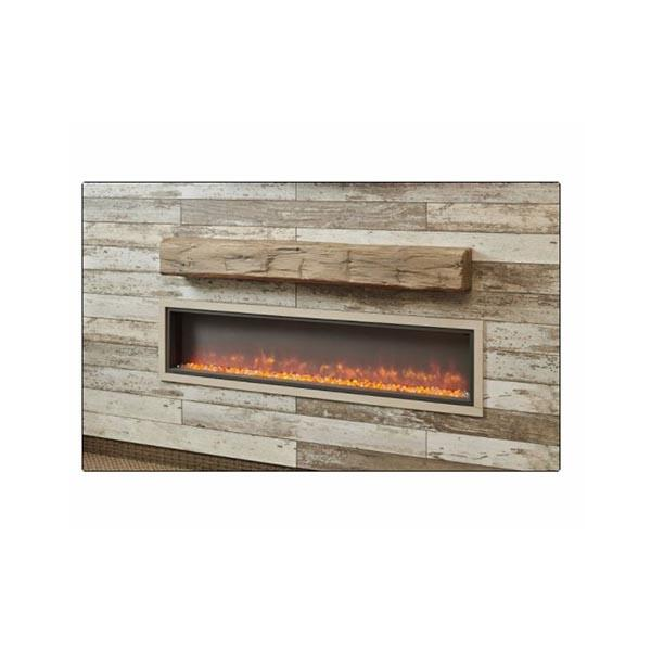 Linear Weathered Barnwood Supercast™ Mantel by The Outdoor GreatRoom