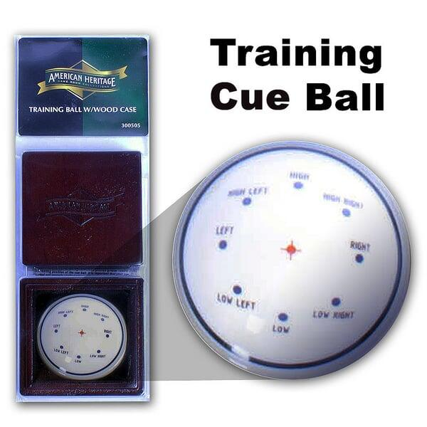 Training Cue Ball w/ Wood Case by American Heritage