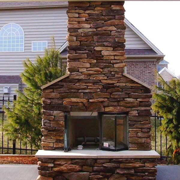 how to make a stone fireplace wall color