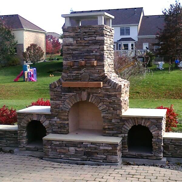 Sims fireplace project for Outdoor room with fireplace