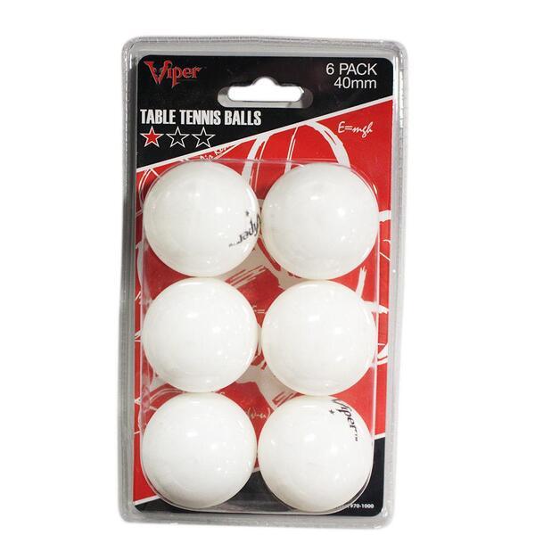 White Ping Pong Balls by Great Lakes Darts