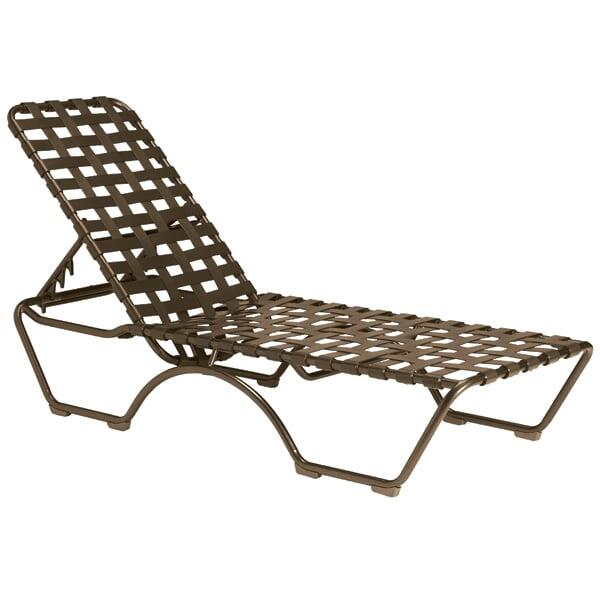 Kahana Cross Strap Chaise Lounge by Tropitone