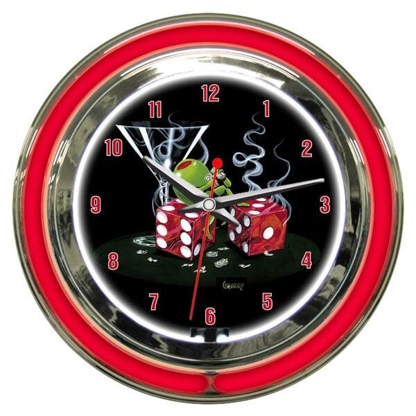 Sitting On Seven Wall Clock by Michael Godard