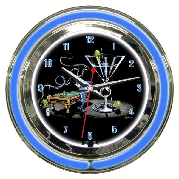 Pool Shark II Wall Clock by Michael Godard