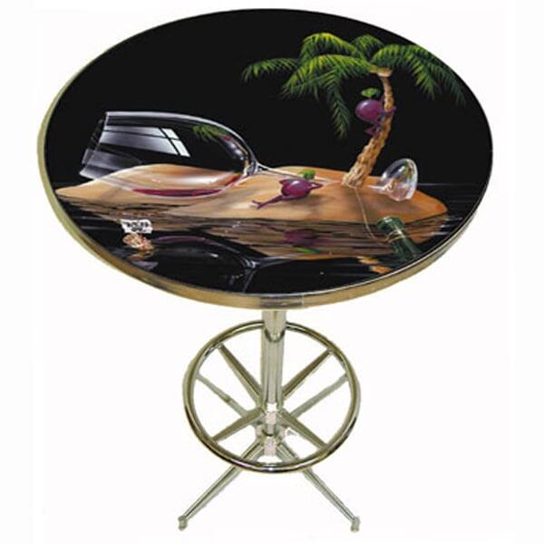 Lost In Paradise Pub Table by Michael Godard