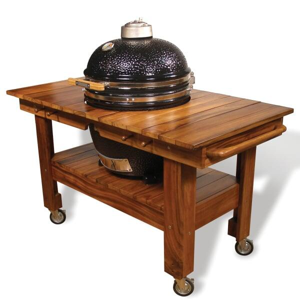 Acacia Wood Grill Cart by Saffire Grill Co.