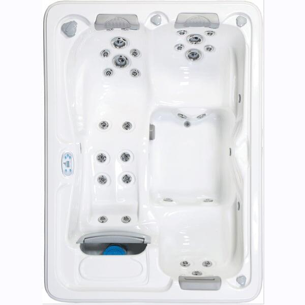 Compact Rectangular Spa with Advanced Options Seats Three