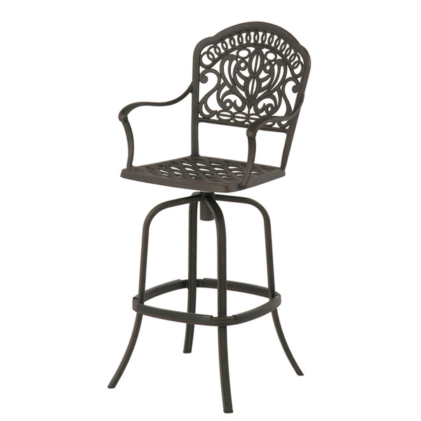 Cast Aluminum Patio Furniture Heart Pattern: Cast Aluminum Patio Furniture Bar Stool